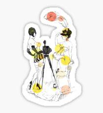 Two girls - orange Sticker