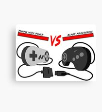 Playing with Power vs Blast Processing (Snes vs Genesis) Canvas Print