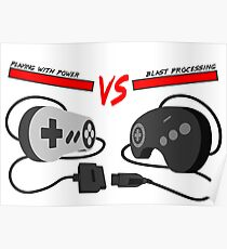 Playing with Power vs Blast Processing (Snes vs Genesis) Poster