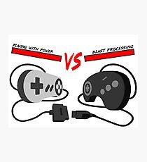Playing with Power vs Blast Processing (Snes vs Genesis) Photographic Print