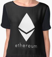 Ethereum Pure White Diamond Chiffon Top