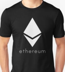 Ethereum Pure White Diamond Unisex T-Shirt