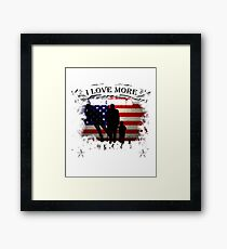 The only thing i love more than being a veteran is being a grandpa Framed Print