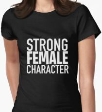 Strong Female Character ver.white Womens Fitted T-Shirt