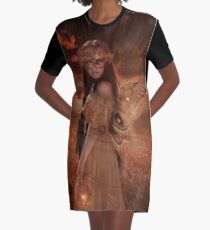 Fairy Afterglow Graphic T-Shirt Dress