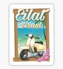 Eilat Beach Israel scooter travel Sticker