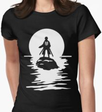 Eren Yeager Attack on Titan T-shirt River Moon Anime One Piece Dragon Ball One Punch Man  Womens Fitted T-Shirt