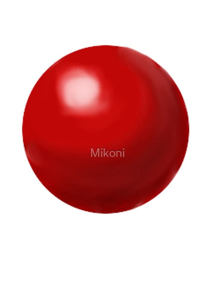 Simple Red Sphere by Mikoni