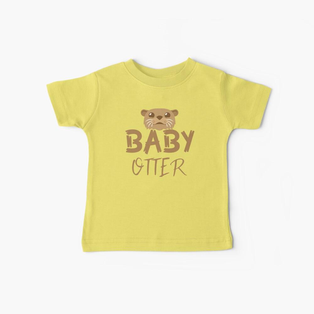 BABY OTTER (con la correspondiente mamá Nutria y Papa Otter) Camiseta para bebés