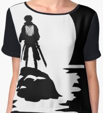 Eren Yeager Attack on Titan T-shirt River Moon Anime One Piece Dragon Ball One Punch Man  Chiffon Top