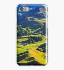 green hills landscape, location - New Zealand iPhone Case/Skin