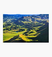 green hills landscape, location - New Zealand Photographic Print