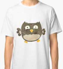retro cartoon owl Classic T-Shirt