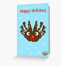 #HugsForNoah Rudolph Happy Holidays Greeting Card