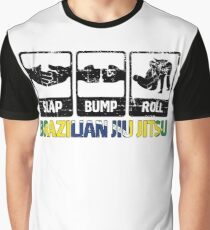BJJ Brazilian Jiu-Jitsu Slap - Bump - Roll Graphic T-Shirt