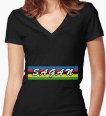 Peter Sagan - World Champion Women's Fitted V-Neck T-Shirt