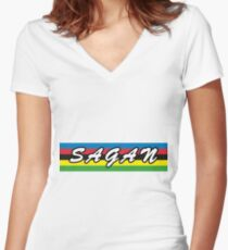 Peter Sagan - World Champion Women's Fitted V-Neck T-Shirt
