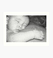 Sleepy baby Art Print