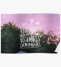 Nightmares - The Front Bottoms Lyrics Original Piece Poster
