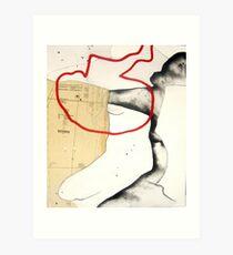 mapping myself1 Art Print