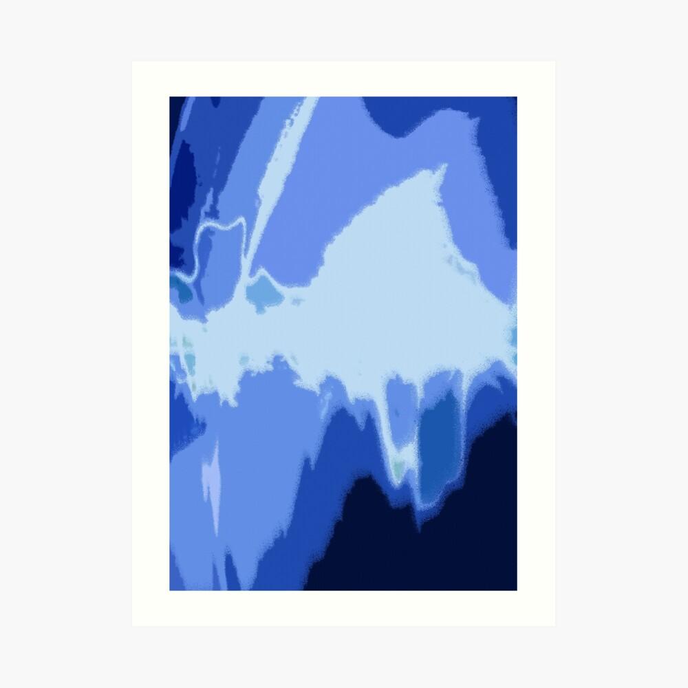 Blue Frequency Kunstdruck