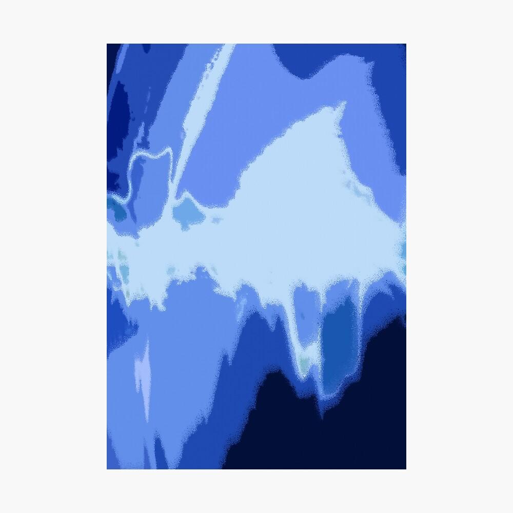 Blue Frequency Fotodruck