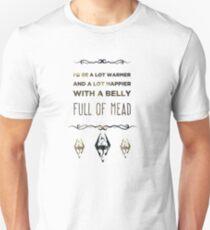 Skyrim Belly Full Of Mead Unisex T-Shirt