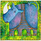 Patterned Rhino by Julie Nicholls