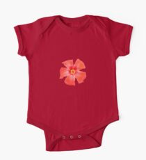Tropical Hibiscus Flower Vector One Piece - Short Sleeve