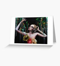 Summertime Sadness Oil Painting Greeting Card
