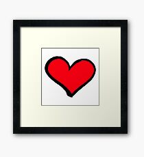 Red heart Framed Print