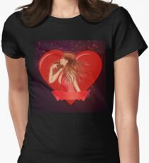 Girl with ribbon and big heart T-Shirt