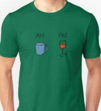 AM Coffee PM Wine  Unisex T-Shirt