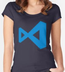 visual studio code Women's Fitted Scoop T-Shirt
