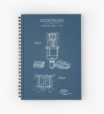 Cuaderno de espiral Micrófono