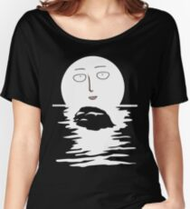 Sitama Fool Face One Punch Man T-Shirt Anime River Moon One Piece Death Note Tokyo Ghoul Renamon Women's Relaxed Fit T-Shirt