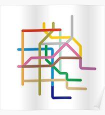 Mini Metros - Mexico City, Mexico Poster