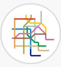 Mini Metros - Mexico City, Mexico Sticker