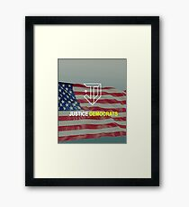 Justice Democrats Framed Print
