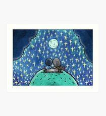 Moonlit Picnic Art Print