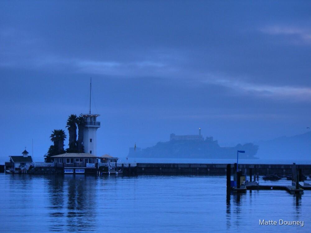 Alcatraz at dusk by Matte Downey