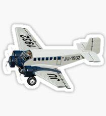 Cartoon Retro Airplane Sticker