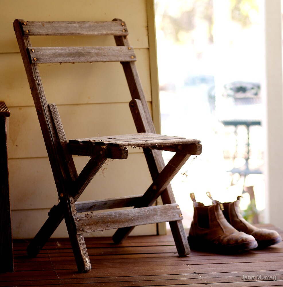 Home: Chair n boots by Jane Murray