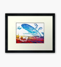 Moby Dick and the Red Sea Framed Print