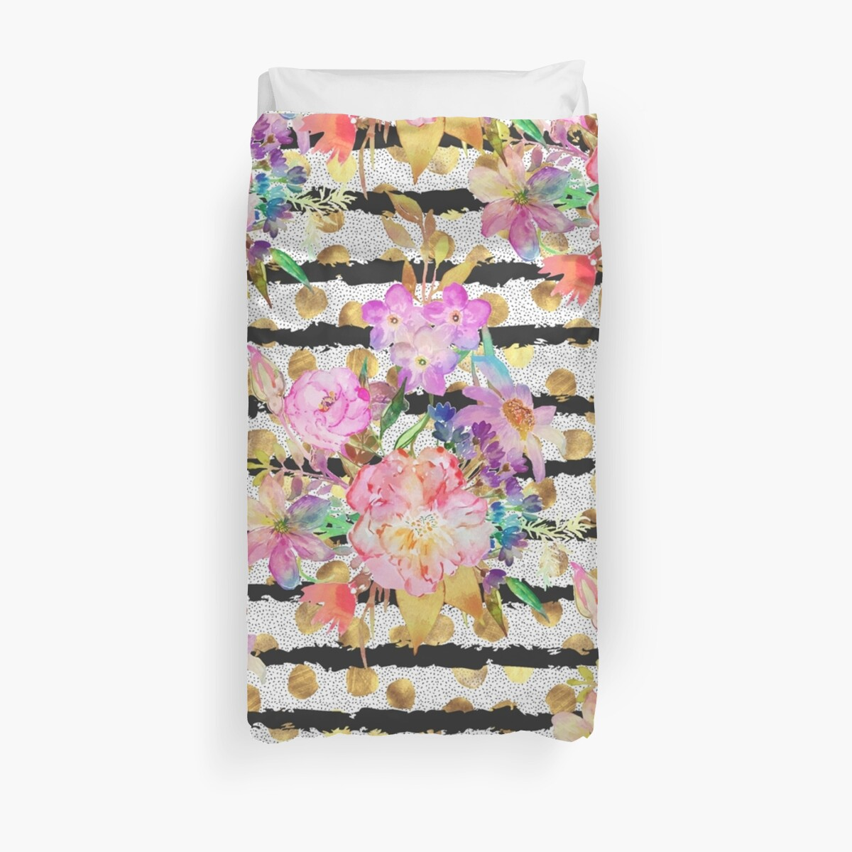 Elegant spring flowers and stripes design by InovArtS