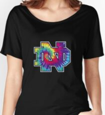 Notre Dame Tie Dye Women's Relaxed Fit T-Shirt
