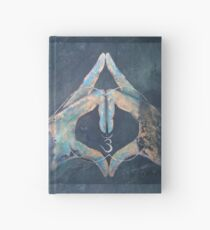 Ajna -Blue Hand-Chakra Mudra  Hardcover Journal