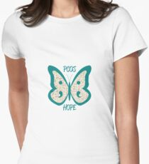 PCOS Awareness Butterfly Women's Fitted T-Shirt