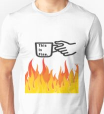 This Is Fine. (Coffee over Fire) Unisex T-Shirt