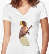 Visions Women's Fitted V-Neck T-Shirt